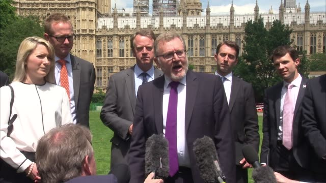 scottish conservative mps photocall in westminster england london westminster ext david mundell mp along for photocall with other scottish... - victoria tower stock-videos und b-roll-filmmaterial