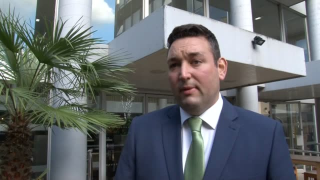 scottish conservative msp miles briggs gives his reaction after being cleared of sexual harassment following a party disciplinary hearing. - member of the scottish parliament stock videos & royalty-free footage