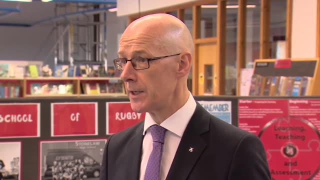 scottish education secretary john swinney talking about the appeals process for students in scotland unhappy with the grades received from the... - receiving stock videos & royalty-free footage