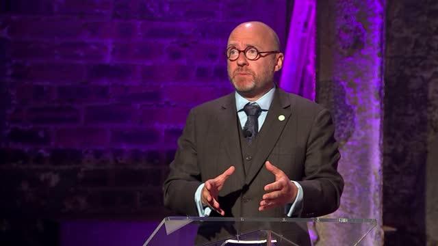 scottish election: c4 scottish leaders debate; scotland: glasgow: the galvanisers: int patrick harvie , anas sarwar , nicola sturgeon , douglas ross... - rebuilding stock videos & royalty-free footage