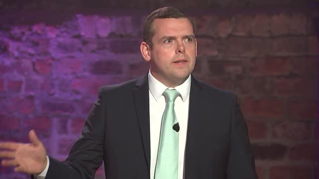 scottish election: c4 scottish leaders debate; scotland: glasgow: the galvanisers: int patrick harvie , anas sarwar , nicola sturgeon , douglas ross... - scrutiny stock videos & royalty-free footage
