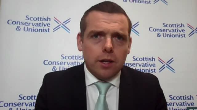 "scottish election: nicola sturgeon tells boris johnson second referendum is case of ""when, not if""; england: london: gir / scotland: int douglas ross... - channel 4 news stock videos & royalty-free footage"