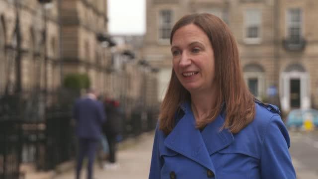 "scottish election: nicola sturgeon tells boris johnson second referendum is case of ""when, not if""; scotland: edinburgh: scottish parliament: ext air... - built structure stock videos & royalty-free footage"