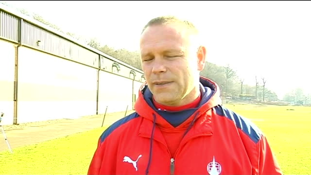 falkirk v inverness caledonian thistle preview; falkirk: day john hughes interview sot - thistle stock videos & royalty-free footage