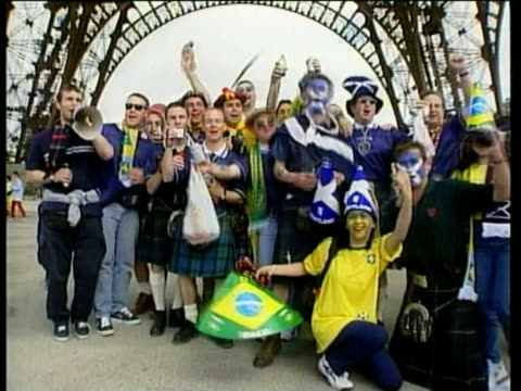 Scottish fans react to result of Scotland v Brazil match Craig Brown reaction / Paris France / AUDIO