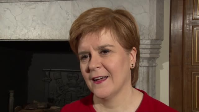 scottish first minister nicola sturgeon is asked about the apparent smear campaign from former first minister alex salmond's team over his ongoing... - prime minister video stock e b–roll