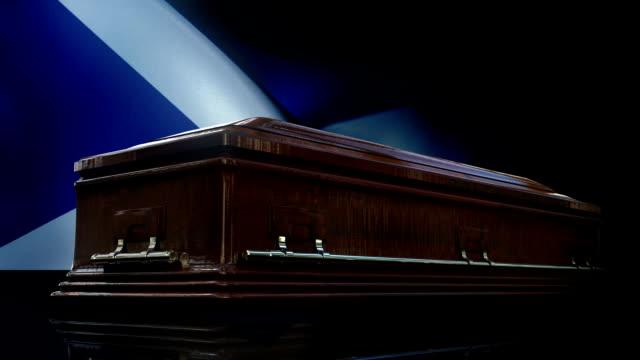 Scottish Flag Behind Coffin