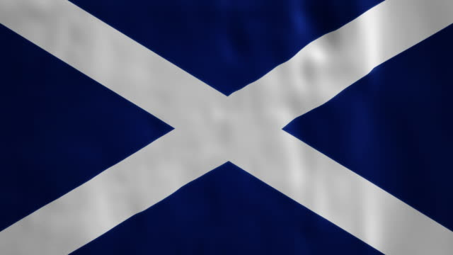 Scottish Flag blowing and loopable