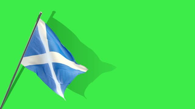 scottish flag Rising
