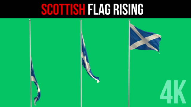 scottish flag - scottish culture stock videos & royalty-free footage