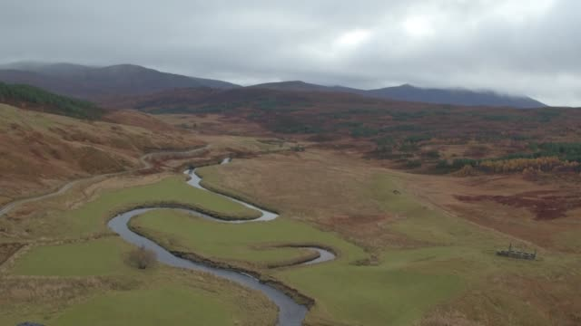 Scottish Highlands Windmills Drone view