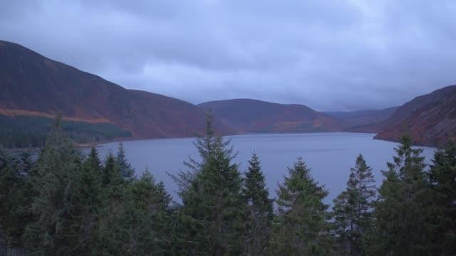 Scottish Highlands Windmills Drone view