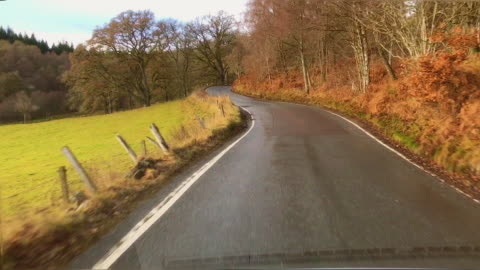 scottish hillside drive to queens view - hebrides stock videos & royalty-free footage