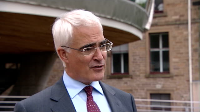 alistair darling launches anti independence campaign ext alistair darling mp interview sot sometimes your candidate wins sometimes they don't / the... - alistair darling stock videos & royalty-free footage