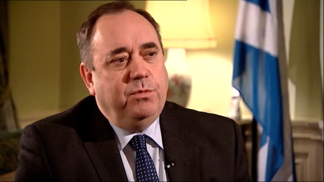 scottish independence: cameron and miliband united in opposition to independence; scotland: edinburgh: alex salmond msp interview sot - actually,... - grecia stato video stock e b–roll