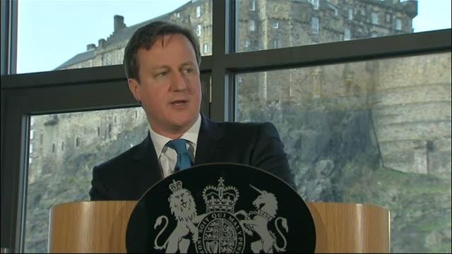 David Cameron speech SCOTLAND Edinburgh Apex Hotel THROUGHOUT** David Cameron MP speech SOT Good afternoon everyone and thank you very much for...