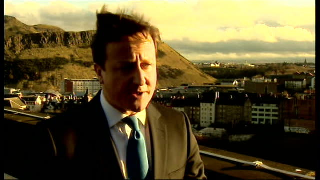 david cameron visits scotland scotland edinburgh photography ** david cameron mp shaking hands with alex salmond msp then sitting down at table ends... - alex salmond stock videos & royalty-free footage