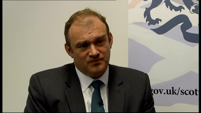 Ed Davey interview on energy SCOTLAND Edinburgh INT Ed Davey MP interview SOT On resignation of Maria Miller as Culture Secretary / diversity of the...