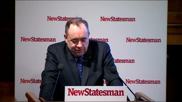 Alex Salmond speech Salmond speech SOT On achievements of Scottish parliament Dambuster strategy of UK Government lovebombed from a distance by David...