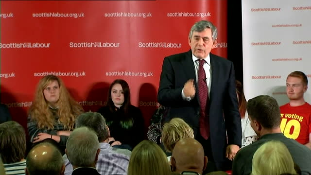 Gordon Brown speech in Loanhead Brown speech SOT ends abruptly