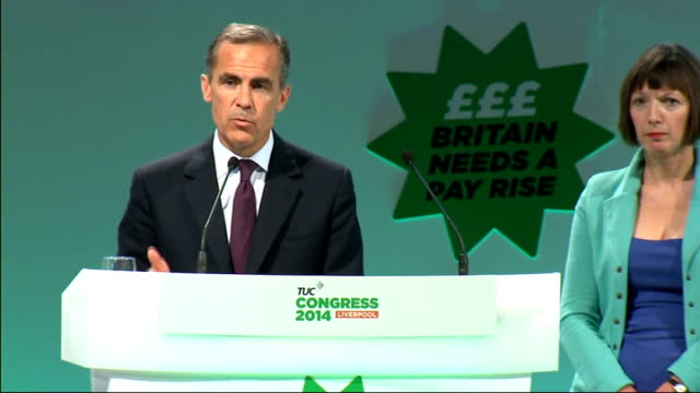 scottish independence referendum: party leaders head to scotland; england: liverpool: int mark carney press conference sot - we take note of all of... - out of context stock videos & royalty-free footage