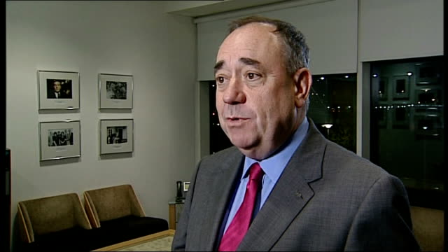 westminster leaders to offer devolved powers for scotland in event of 'no' vote scotland int alex salmond msp interview sot it's chaos total... - crumb stock videos and b-roll footage