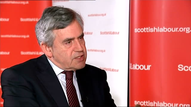'yes' campaign ahead in polls interview gordon brown scotland midlothian loanhead int gordon brown mp interview sot issue in this referendum now is... - separatism stock videos & royalty-free footage