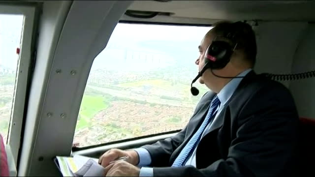 'yes' campaign in perth scotland alex salmond msp sitting and looking out of window helicopter pilot - helicopter pilot stock videos & royalty-free footage