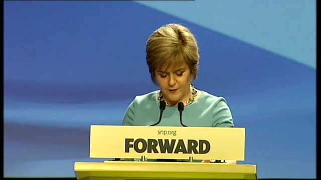 snp spring conference sturgeon speech delegates these are the essential differences between yes and no and these are the reasons we must vote yes... - nutshell stock videos & royalty-free footage