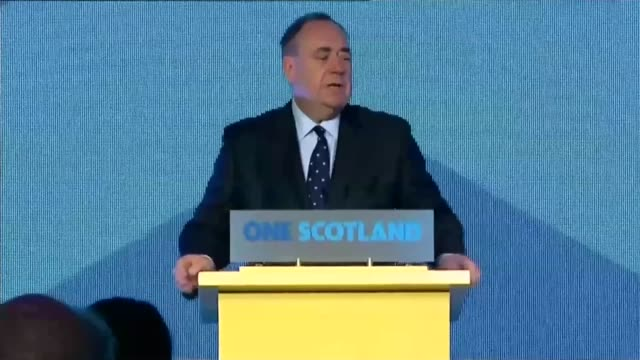 Scottish independence would result in 'economic boost' claims SNP report LIB / INT Alex Salmond MSP speech SOT