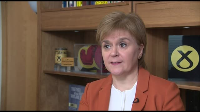 Scottish independence would result in 'economic boost' claims SNP report Nicola Sturgeon MSP interview SOT This issue about when there will be a...