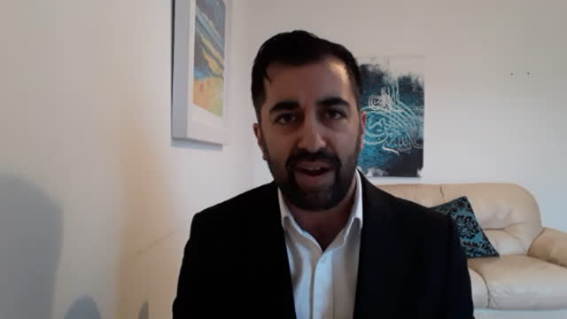 "scottish justice minister humza yousaf saying the uk government's ""gunboat diplomacy"" over british waters is ""not welcome in scotland"" - british military stock videos & royalty-free footage"