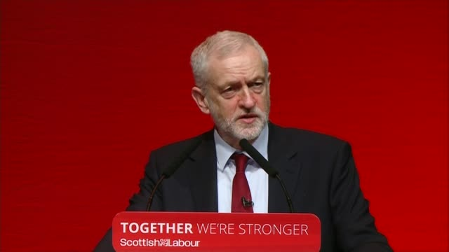 jeremy corbyn speech scottish labour conference jeremy corbyn speech jeremy corbyn speech sot well done snps / labour msps / we don't want to live in... - basement stock videos and b-roll footage