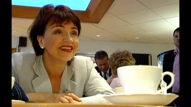 scottish labour leader backs referendum on independence t21080743 int wendy alexander sitting at table with cup and saucer in f/g alexander... - saucer stock videos & royalty-free footage