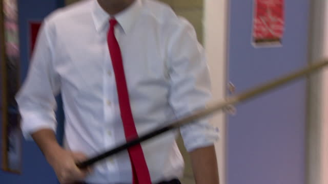 scottish labour leadership candidate anas sarwar playing pool and computer games at a youth club - youth club stock videos & royalty-free footage