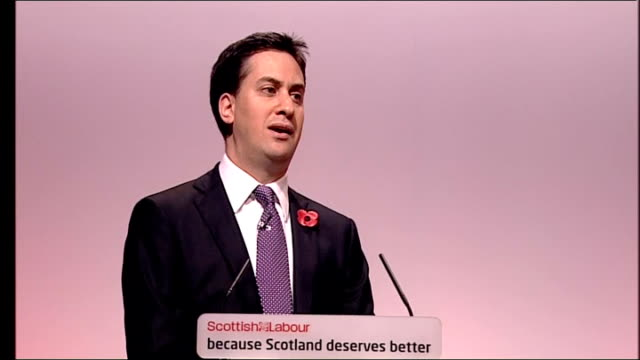 ed miliband speech ed miliband speech continued sot and let me also say that i will be supporting the scottish election campaign with jim's excellent... - gender equality stock videos & royalty-free footage