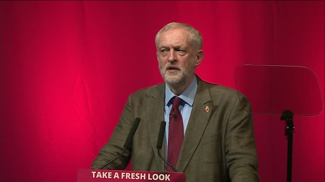 jeremy corbyn speech corbyn speech sot keir hardie last bearded leader of the labour party / on trident jobs / on renewing trident / on solidarity of... - trident stock videos & royalty-free footage