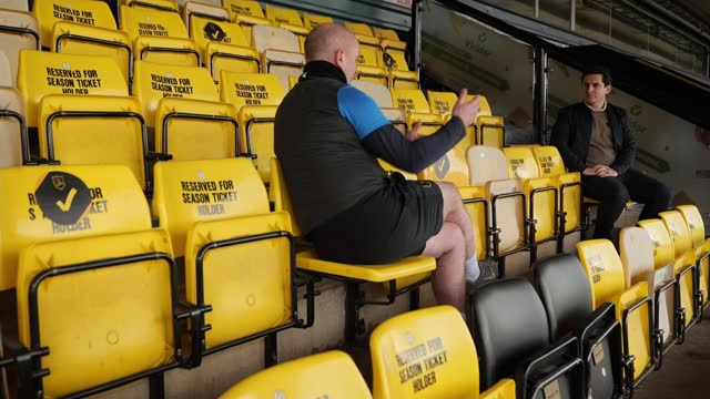 scottish league cup final: livingston fc manager david martindale talks of turning his life around with the club; scotland: west lothian: livingston:... - standing stock videos & royalty-free footage