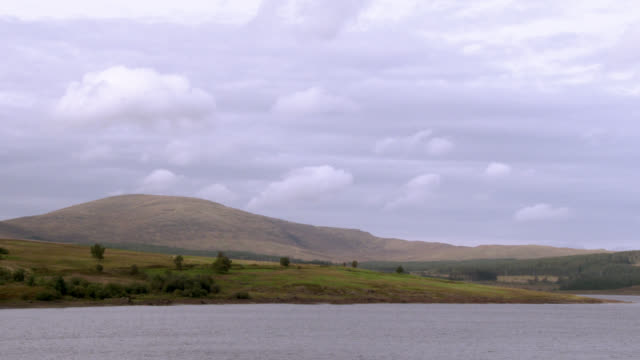 scottish loch in dumfries and galloway , south west scotland shot in late summer - johnfscott stock videos & royalty-free footage