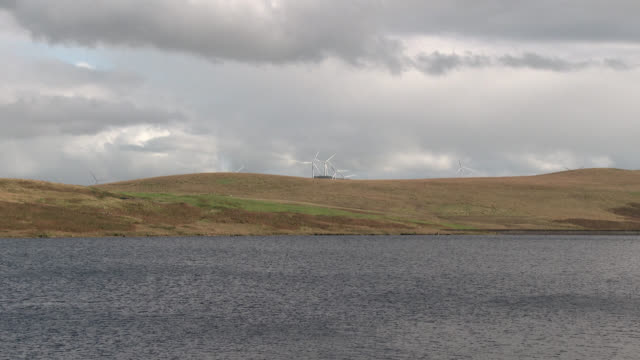 scottish loch used as a reservoir - johnfscott stock videos & royalty-free footage