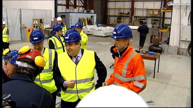 scottish national party launches european election campaign scotland edinburgh ext alex salmond msp shaking hands various of salmond touring... - scottish national party stock videos & royalty-free footage