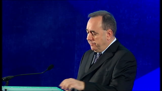scottish national party plan to hold referendum on independence from uk int alex salmond msp speech sot my government was elected to deliver within... - scottish national party stock videos & royalty-free footage