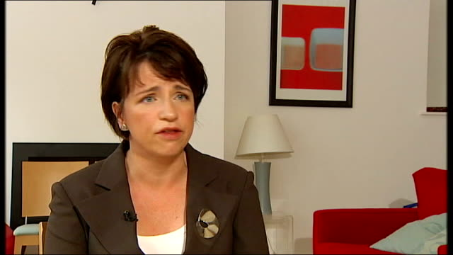 scottish national party plan to hold referendum on independence from uk wendy alexander msp interview sot - scottish national party stock videos & royalty-free footage