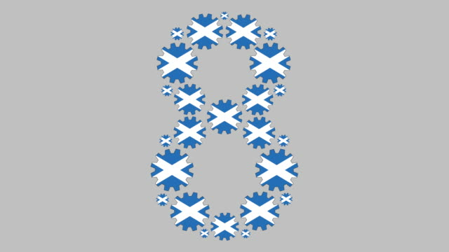 scottish number eight - number 8 stock videos & royalty-free footage