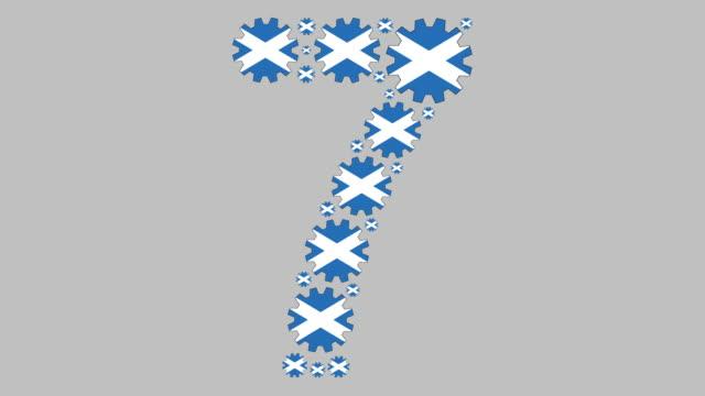 scottish number seven - scottish flag stock videos & royalty-free footage