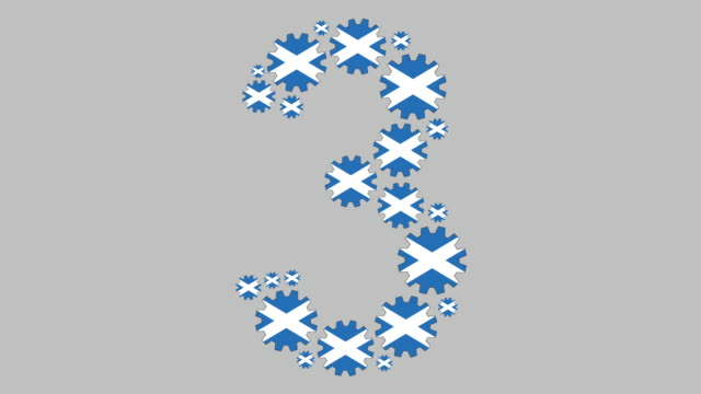 scottish number three - scottish flag stock videos & royalty-free footage