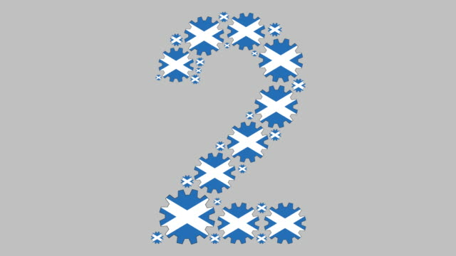 scottish number two - scottish flag stock videos & royalty-free footage