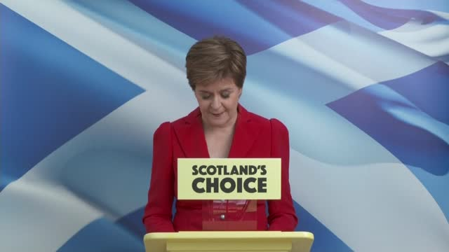 scottish parliament election: snp miss majority by one seat: prospects for second independence referendum; scotland: glasgow: int nicola sturgeon msp... - channel 4 news stock videos & royalty-free footage