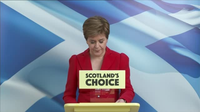 scottish parliament election: snp miss majority by one seat: prospects for second independence referendum; scotland: glasgow: ext nicola sturgeon msp... - choosing stock videos & royalty-free footage