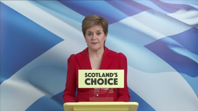 scottish parliament election: snp victory: nicola sturgeon statement; scotland: glasgow: int nicola sturgeon msp speech sot. - the policy programme... - simplicity stock videos & royalty-free footage